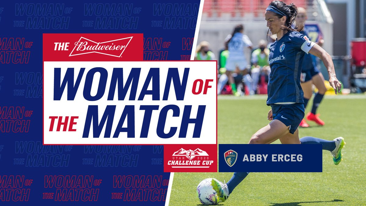 .@abbyerceg put in a strong shift on both sides of the field, including scoring the game-winning goal, to earn @budweiserusa Woman of the Match.  #NWSLChallengeCup https://t.co/AWWHAprvjX