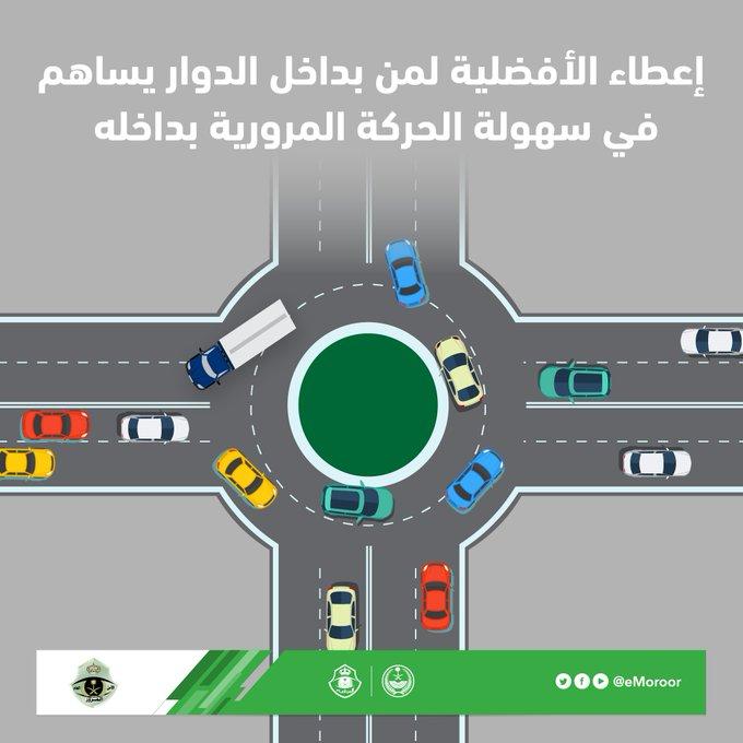 «المرور»: الأفضلية لمن بداخل الدوار تسهيلاً للحركة المرورية  https://t.co/wYsoCqqU2o  #المرور #السعودية #المملكة #الحركات_المرورية https://t.co/299yznHjZi