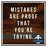 Image for the Tweet beginning: Mistakes are proof that you