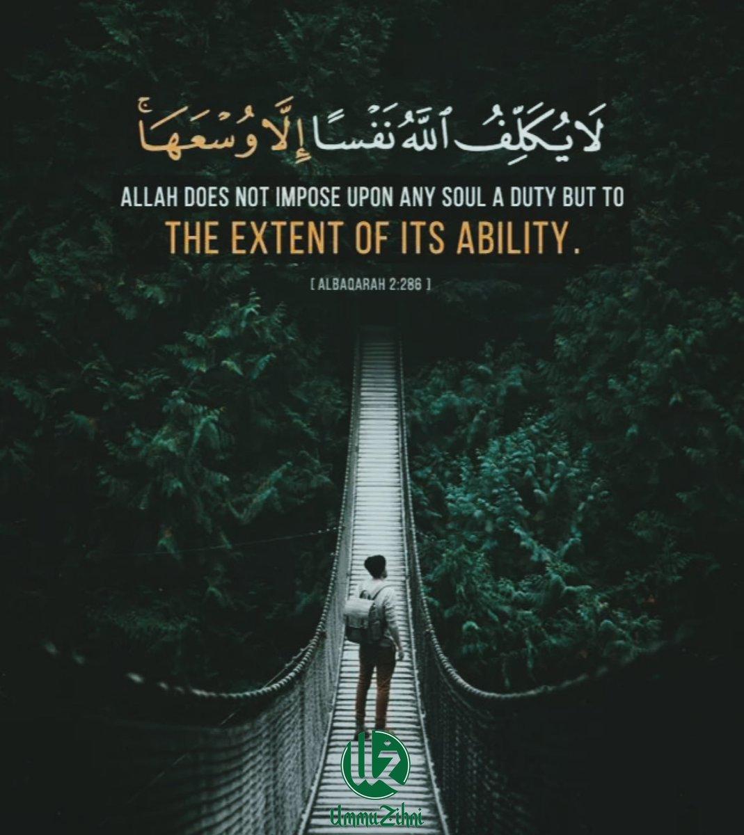 Terus meminta dan merayu pada Allah. Allah tahu kita mampu hadapinya. #jomngaji #tadabburquran #QuranHour #quranforall https://t.co/HU5a1ctkwH