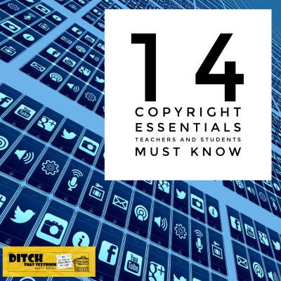 14 copyright essentials teachers and students must know ditchthattextbook.com/2016/04/04/14-… #ditchbook