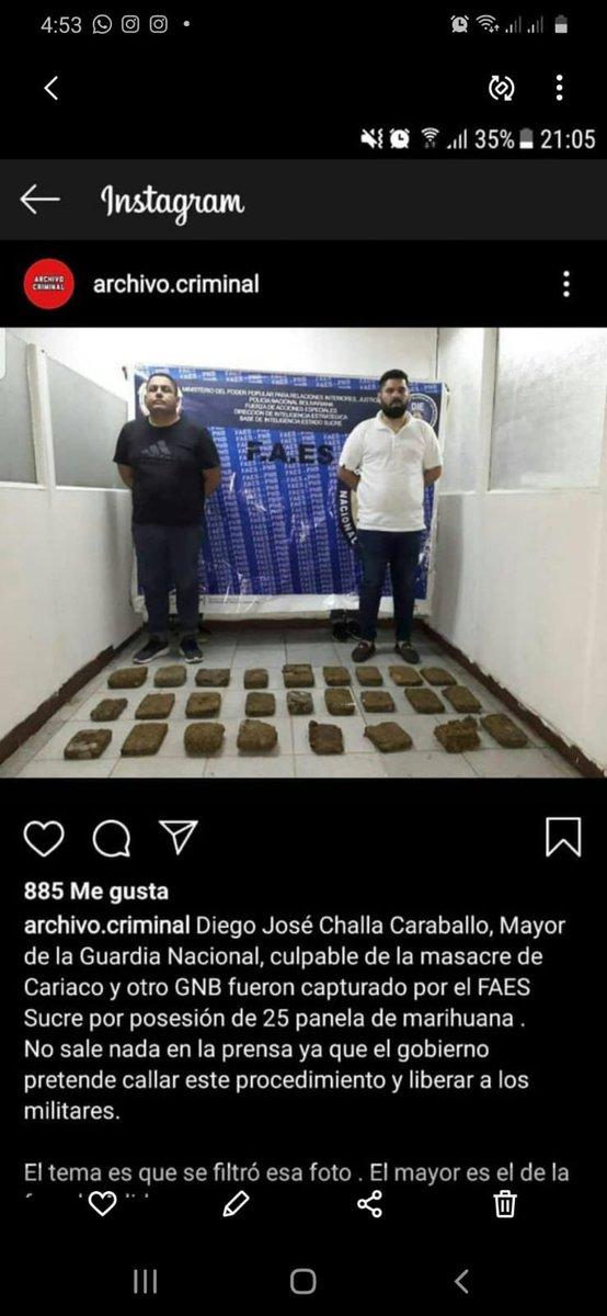El individuo de la izquierda, Diego José Challa Caraballo, fue detenido con 25 kilos de droga y hoy fue ascendido por Maduro a teniente coronel. Chávez vive!