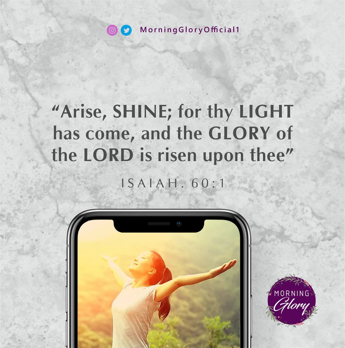 Arise and shine for your light is here. Today is that day, now is that moment for your miracle. Just believe, all things are possible #MorningGlory #morningmotivation #MotivationalQuotes #MondayMotivation #JesusIsComing #MondayMorning #WordOfTheDay #mondaythoughts #AriseAndShinepic.twitter.com/2cZXcpkVGA