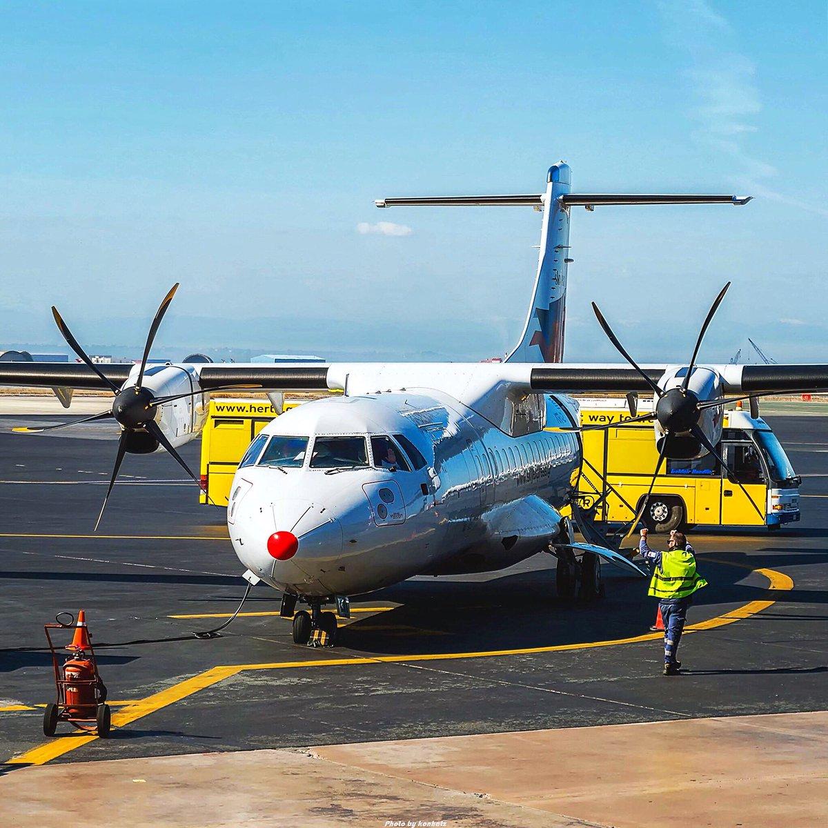 ATR42 of Sky Express in SKG!🛫 - @ATRaircraft  #skyexpressgreece #skyexpress #GQ #ATR #ATR42 #ATRintolife #Thessaloniki #aircraft #skg #lgts #airplane #airport #aviation #Makedonia #avgeek #weareislanders #ramp #wanderlust https://t.co/oeOcTzI2nw