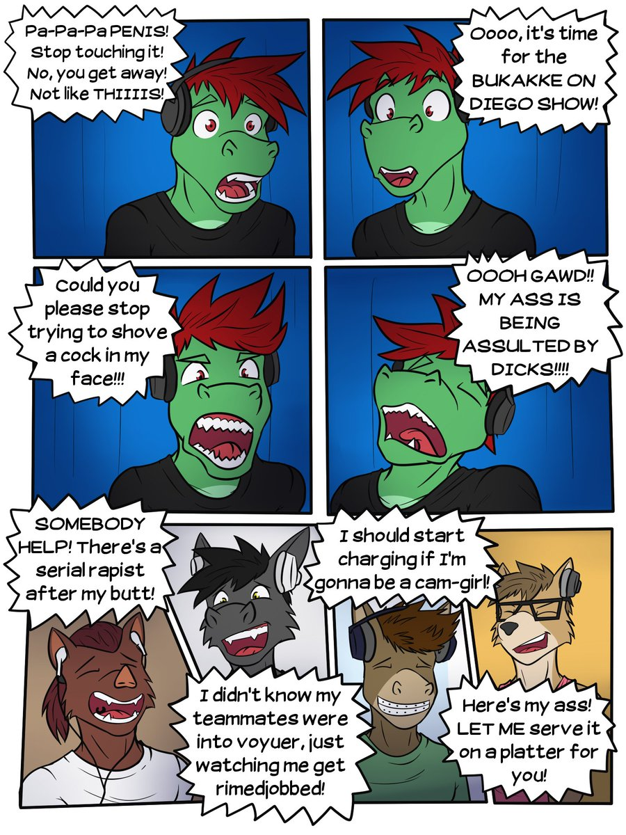Pages 2 and 3, hopefully I managed to get all the funny expression and the outbursts that come when playing games online pic.twitter.com/6kI1tPdihi  by Fuze