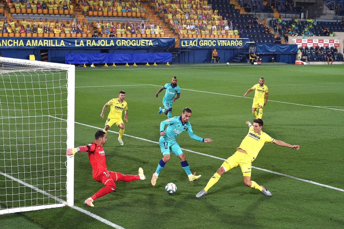 Se la sacaron: Griezmann intentó un taco pero Pau Torres anotó en contra en #LaLigaxESPN. https://t.co/f4zc8uZurY
