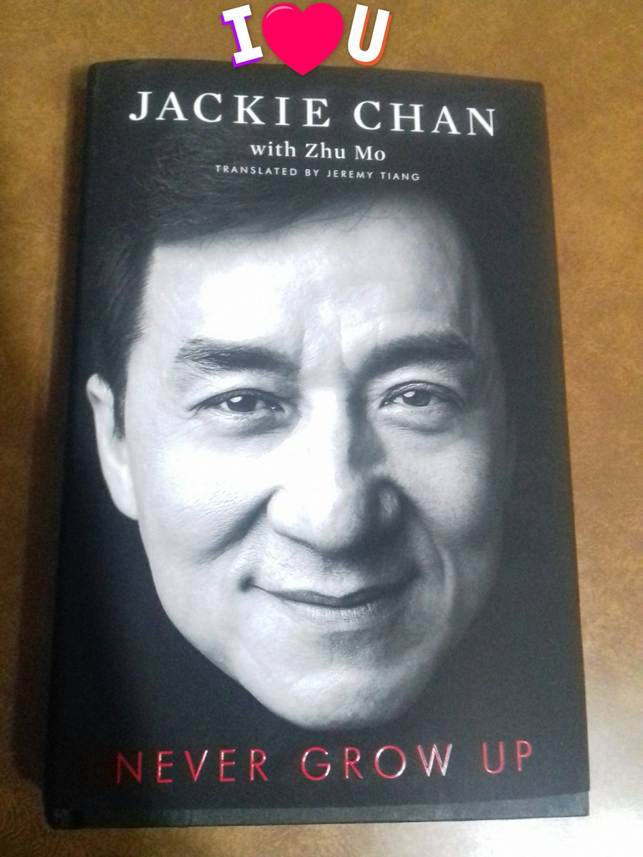 @EyeOfJackieChan 💗💜 #Never_grow_up #book 📘is so #Amazing full of #great Stories📃 & #memmories for the #Legend #Jackie_Chan 😍