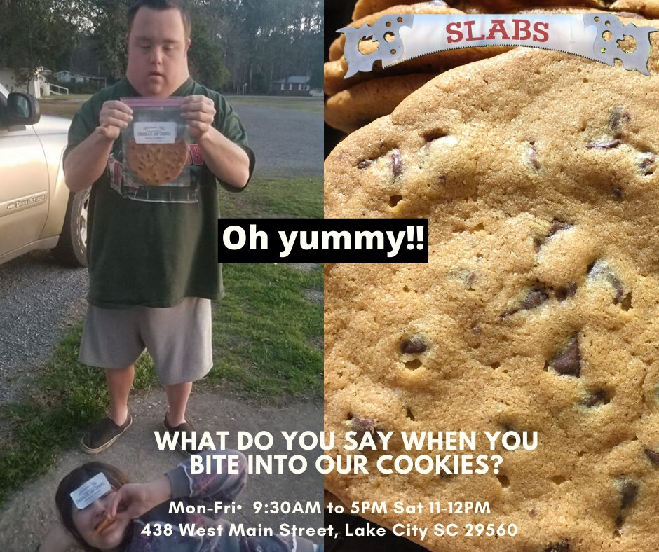 Thank you for your support! We hope you had a fun 4th of July celebration. We are open Monday 9:30-5PM Come see us to grab some homemade chocolate chip cookies or toffee cookies. We want to hear what you think. #VisitSlabsLakeCity #homemadecookies #amazing #meltinyourmouth #yummy