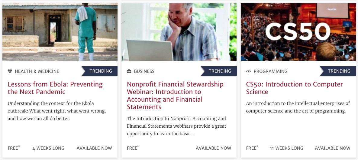 Harvard offers hundreds of free online courses: https://t.co/cEWkPrjDdi https://t.co/rL9Uy14LCc