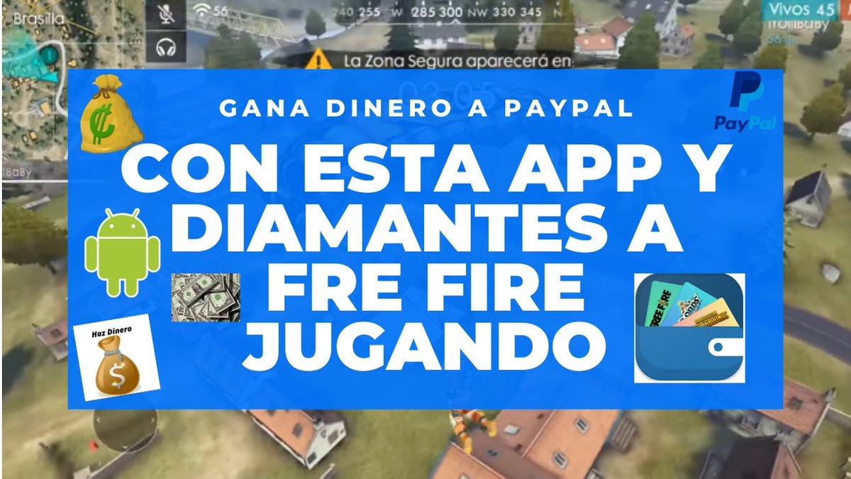 En este video les comparto una excelente App para ganar dinero en Internet desde nuestro android directamente a paypal jugando, realizando tareas y también ganas diamantes a Free Fire. https://youtu.be/XFdn8PfOSEopic.twitter.com/rK3VDJDzZt