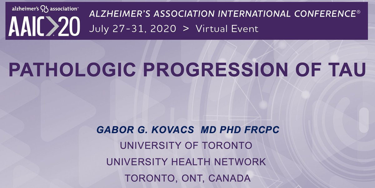 Again a virtual conference--uploaded a presentation on Tau progression--BTW, AAIC free this year. Join me and others on TAU: 28-Jul at 11:30 AM- 12:30 PM Note: times are Central Time https://t.co/qcOUAWRt7j