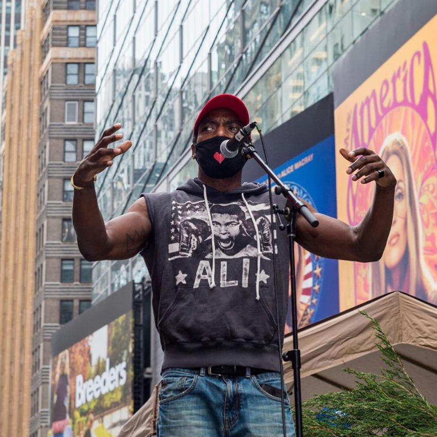Be you. Be proud. ❤️️🌈 @DWattsWords performed at Claim Our Space Now's incredible event, #RallyForFreedom, a rally and march that celebrated Black LGBTQIA+ lives. #Pride4AllBlackLives #TINABroadway 📷: Kevin RC Wilson