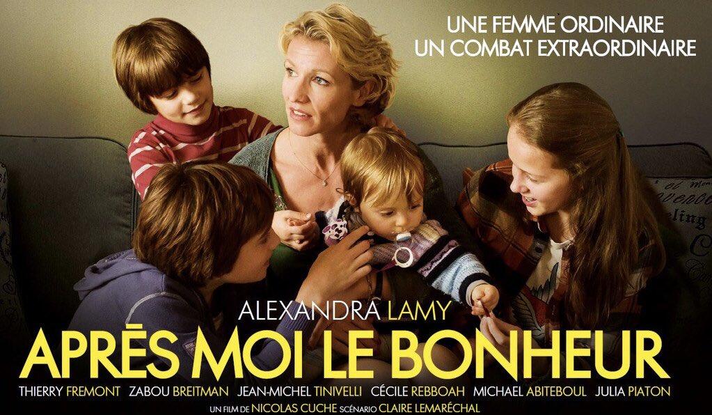 TRÈS BELLE LEÇON DE VIE MAGNIFIQUE FILM 😭 SALE MALADIE DE 🦀🦀 LE COMBAT D UNE MÈRE POUR SES ENFANTS @Alexandra_Lamy  BRAVO https://t.co/3dsVaQHETb