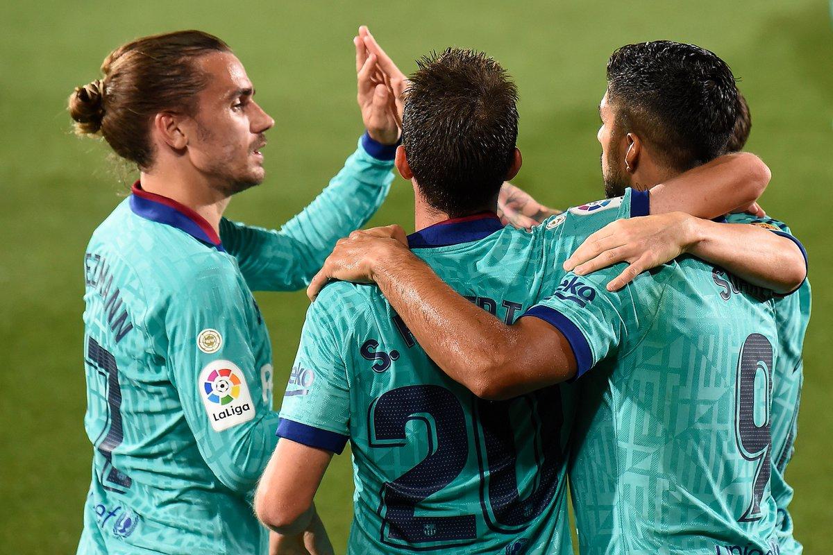 Antoine Griezmann scores his first La Liga goal for Barcelona in 9 games 🙌