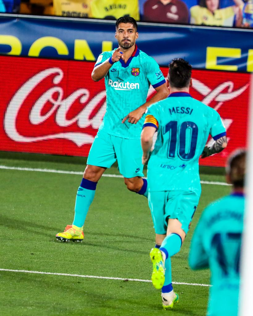 Leo #Messis first-half assists to @LuisSuarez9 and @AntoGriezmann were the 🐐s 18th and 19th of the season, best in @LaLigaEN.