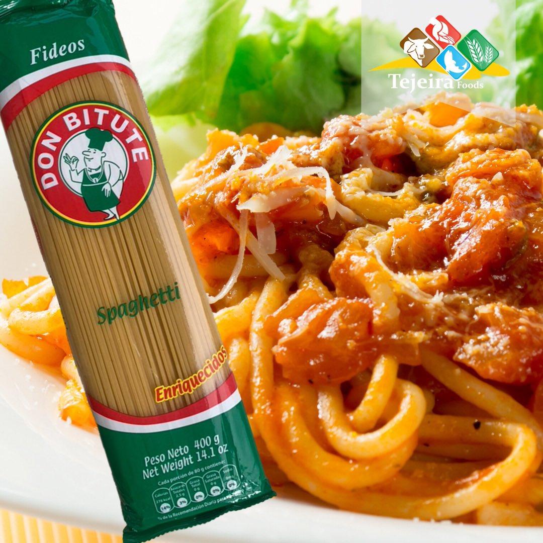 DON BITUTE Spaguetti… ¡no puede faltar en tu mesa! Búscala en tu supermercado y tiendas favoritas.  #DonBitute #DonBitutePanamá #Alimentos #Panamá #TejeiraFoods #pastas #Supermercados #mayoristas #spaguetti #fideos