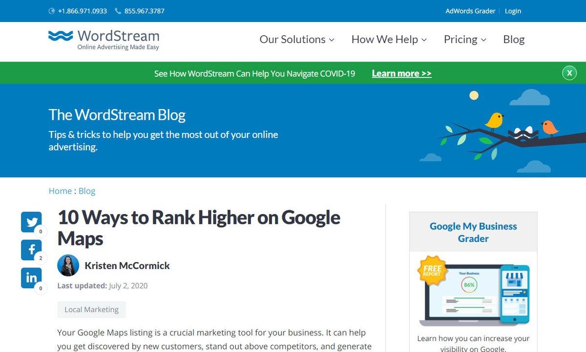 10 Ways to Rank Higher on Google Maps #googlemaps #listing #google #business #website #seo via https://t.co/KCOeyEbBS7 ☛ https://t.co/0U4myCfy9X https://t.co/wBwwE3GgAl