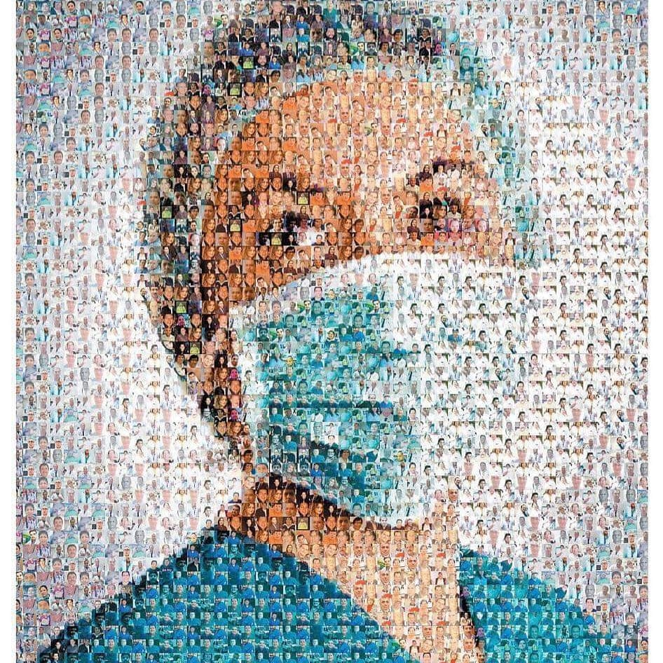 A collage of all the doctors and nurses who lost their life saving others during the pandemic. Say a prayer for them and wear your mask.