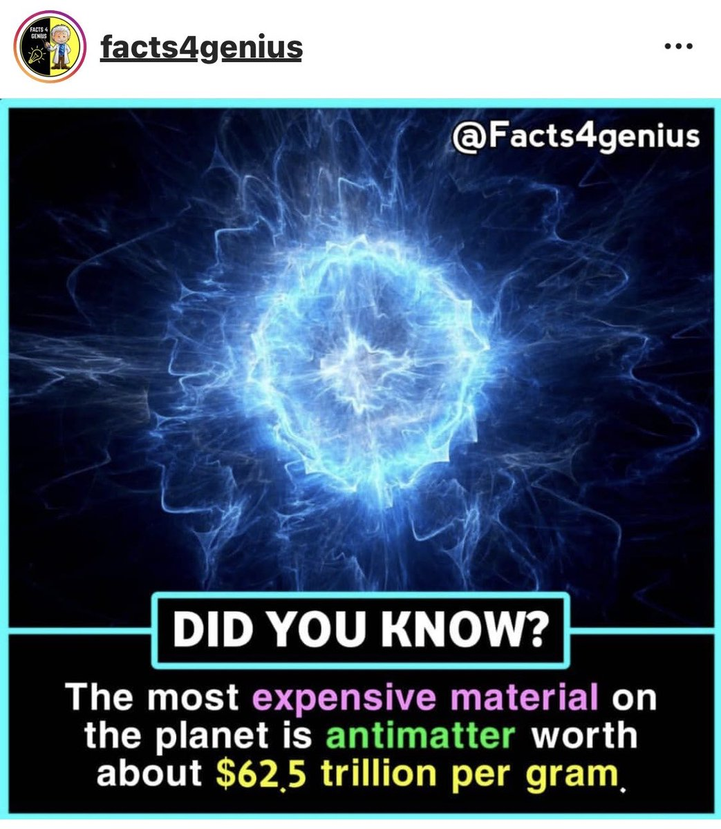 ..antimatter is some costly shiz...