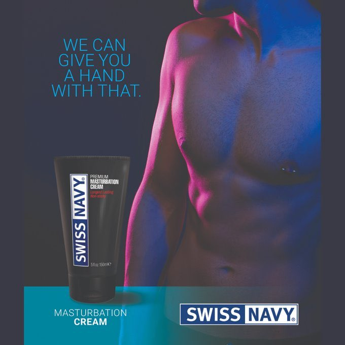 Need a hand with that? masturbation cream from Swiss Navy - available to buy in the jock store ehttps://jockparty.club/product/swiss-navy-masturbation-cream/