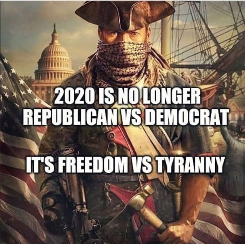 Dear Republicans,  Stand strong against the #Tyranny of the #Left that is seeking to enslave us all under the veil of #PoliticalCorrectness.  #DemocratsAreDestroyingAmerica as they seek to erase America's glorious history and expose us to #MobRule while they #DefundThePolice. https://t.co/qoe6TTxgVF