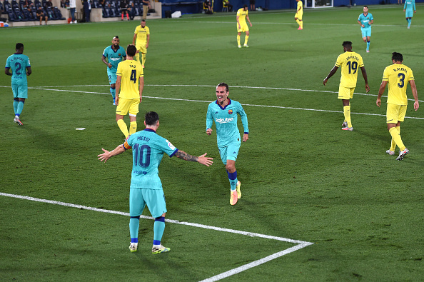 3 - Lionel Messi has assisted three of the nine Antoine Griezmann goals for @FCBarcelona in @LaLigaEN, more than any other teammate. Friends. <br>http://pic.twitter.com/zBXQ8teHti