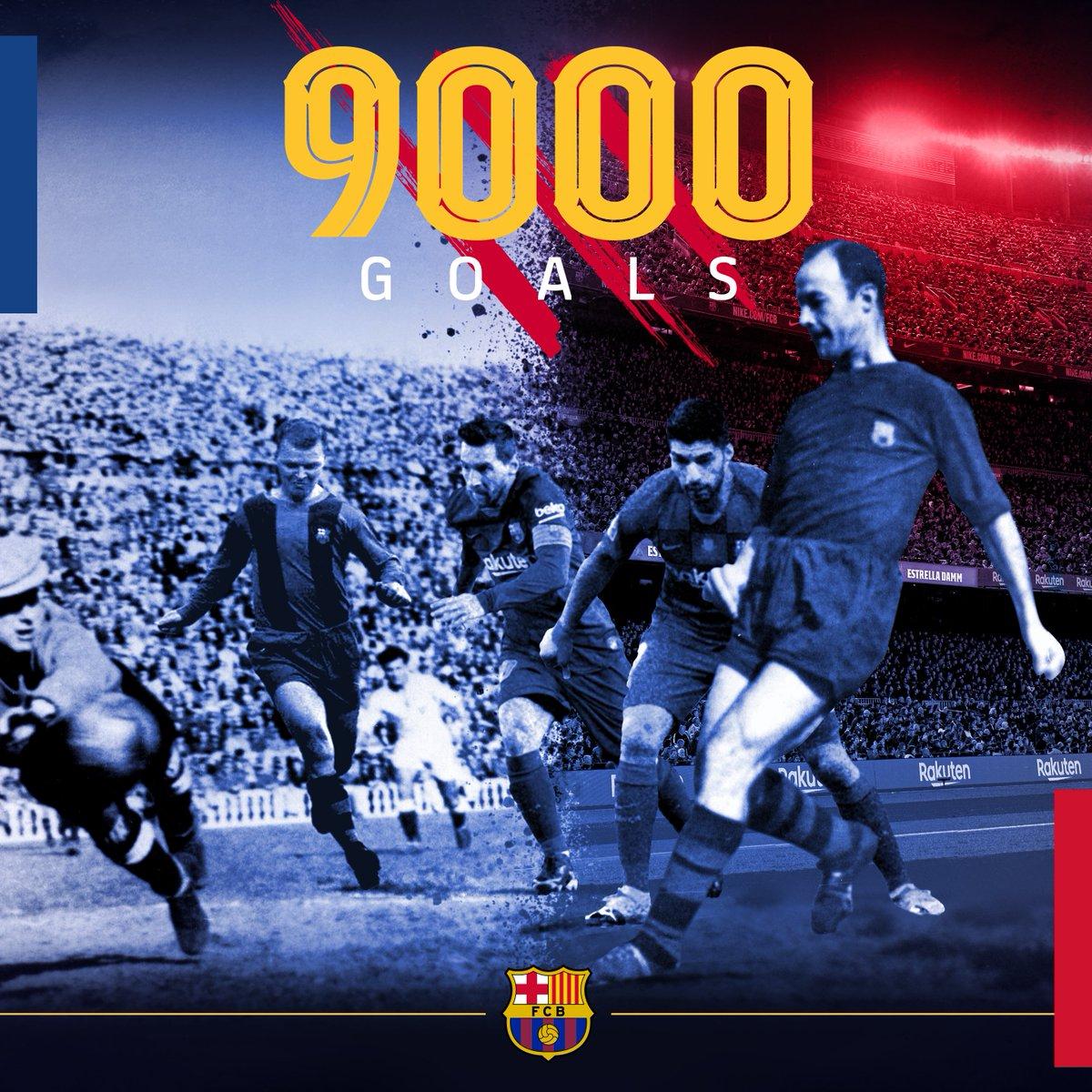 M I L E S T O N E !  That strike by @ANSUFATI was the 9️⃣,0️⃣0️⃣0️⃣th goal in Barça history!  💪🔵🔴 https://t.co/J6jB3w6gMx