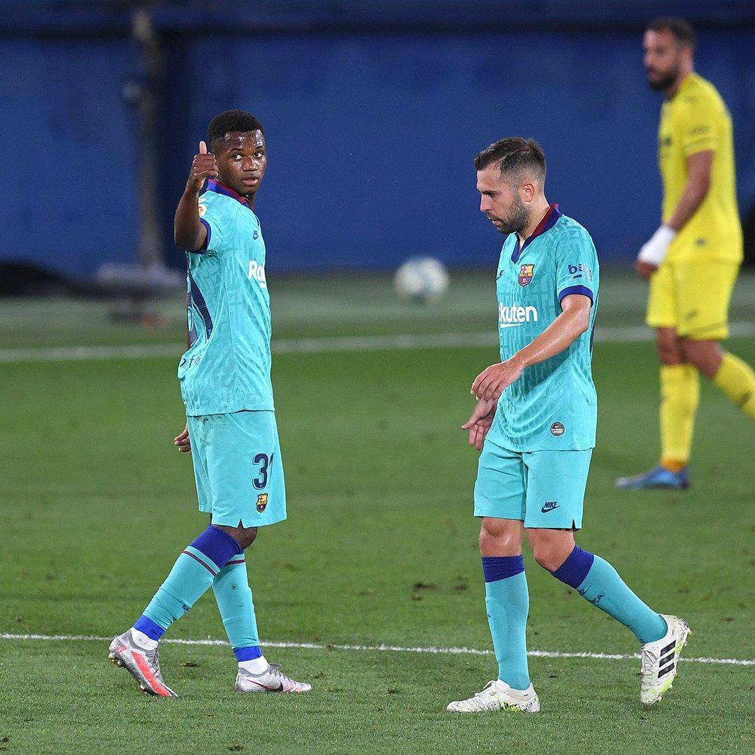 Ansu Fati scores his sixth La Liga goal of the season. He's still just 17 🤯
