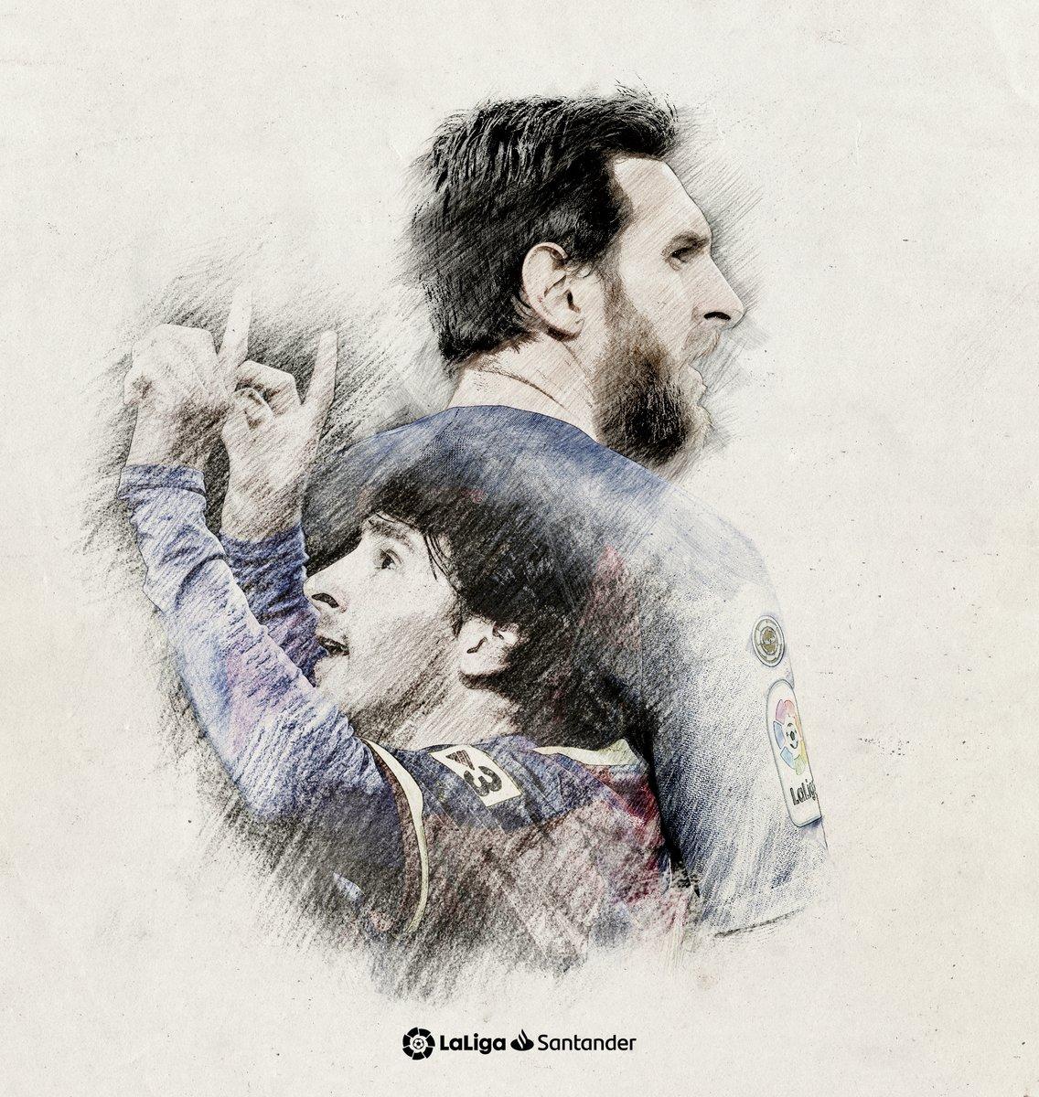 🌟 1⃣9⃣ ASISTENCIAS 🌟  Messi suma y sigue. El argentino bate su propio récord de pases de gol en una temporada en #LaLigaSantander. https://t.co/01i6IV88Xe