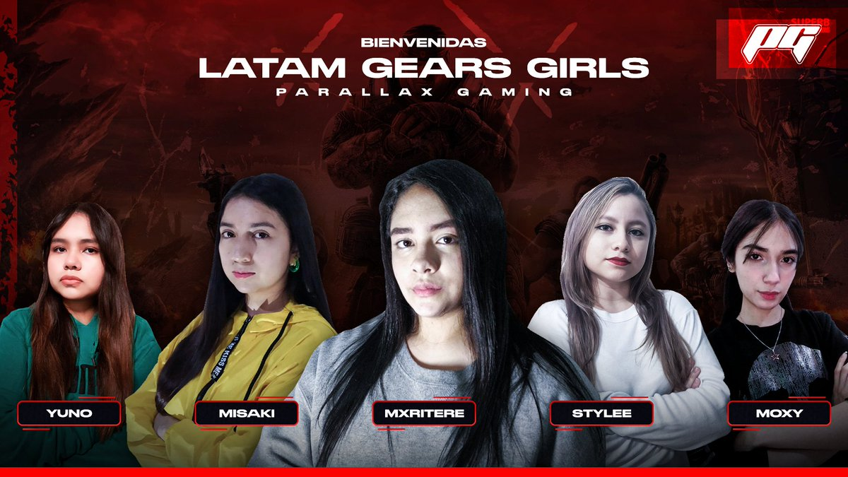 Welcome to #TeamParallax, PG Gears Girls. 🏡 @_YUNOOOO @zMisakix @Mariiitere_ @MStylee_ @an_ettx We are so proud and excited to add this talented group to the Parallax banner. We love you, #GearsFam. ❤️