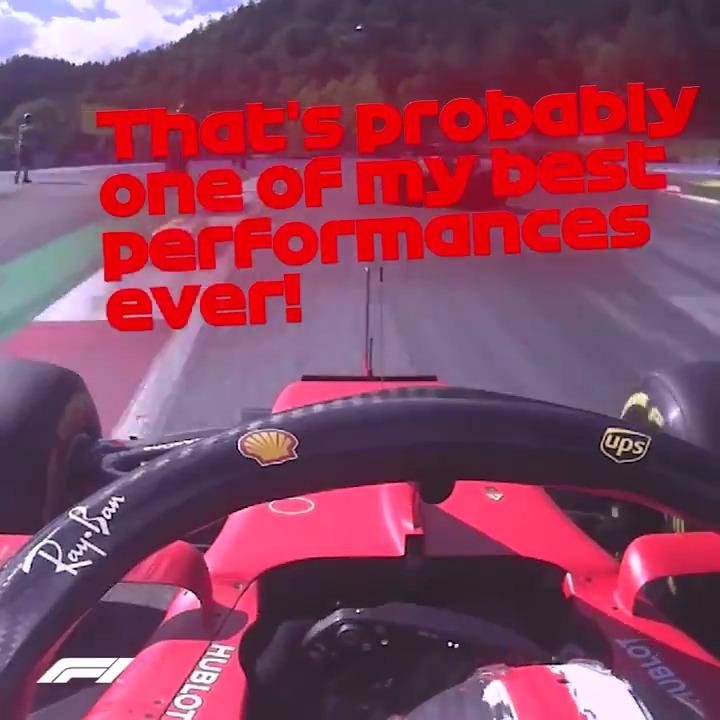 Great job @charles_leclerc 🚀 What a drive 🤩 YESSS!!!  #AustrianGP 🇦🇹 #essereFerrari 🔴
