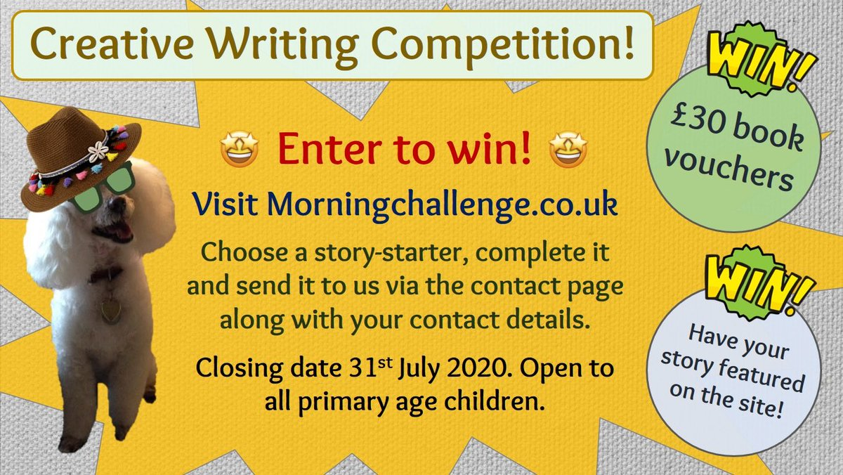 I've really enjoyed reading the entries I've received so far! You've got until the end of the month to get writing. The winner will receive £30 book vouchers and a site feature so spread the word and visit https://t.co/koSCq69Tlg 👍#getwriting #edutwitter https://t.co/corOPquUit