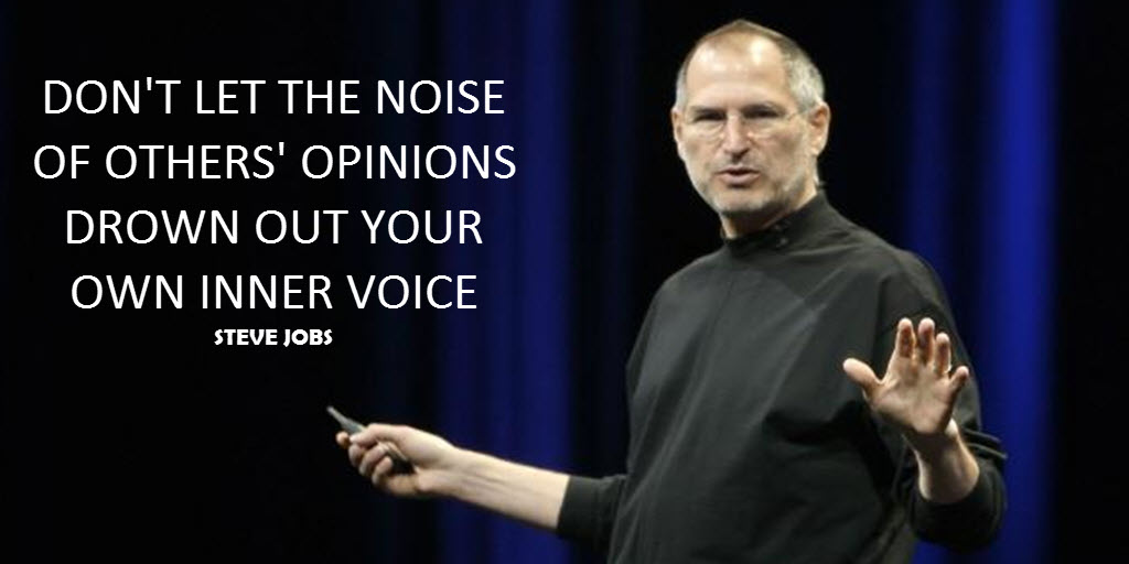 Some people have a problem with me posting this but I trust my inner voice. #jobs #quote #inspiration