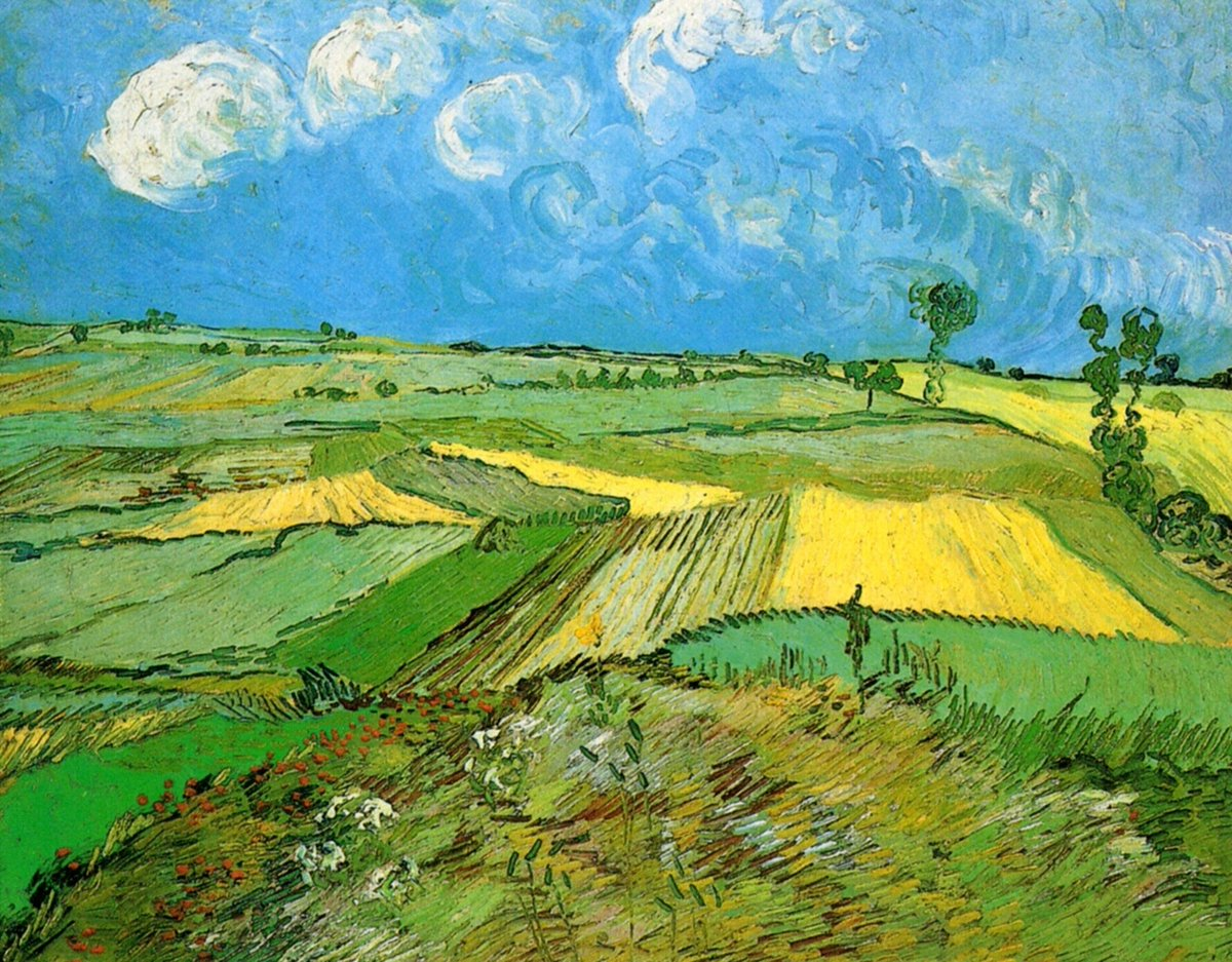 Wheat Fields at Auvers Under Clouded Sky, 1890 #postimpressionism #dutchart https://t.co/nOLhwbhZ6R
