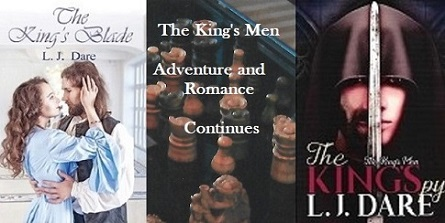 LJDare1 With The King's Spy   following you, don't threaten anyone. Read excerpts Ch. 1 at:   Bk 1- The King's Blade     #BVS #AltRead #MondayMotivation #Historicalfiction #romancere…