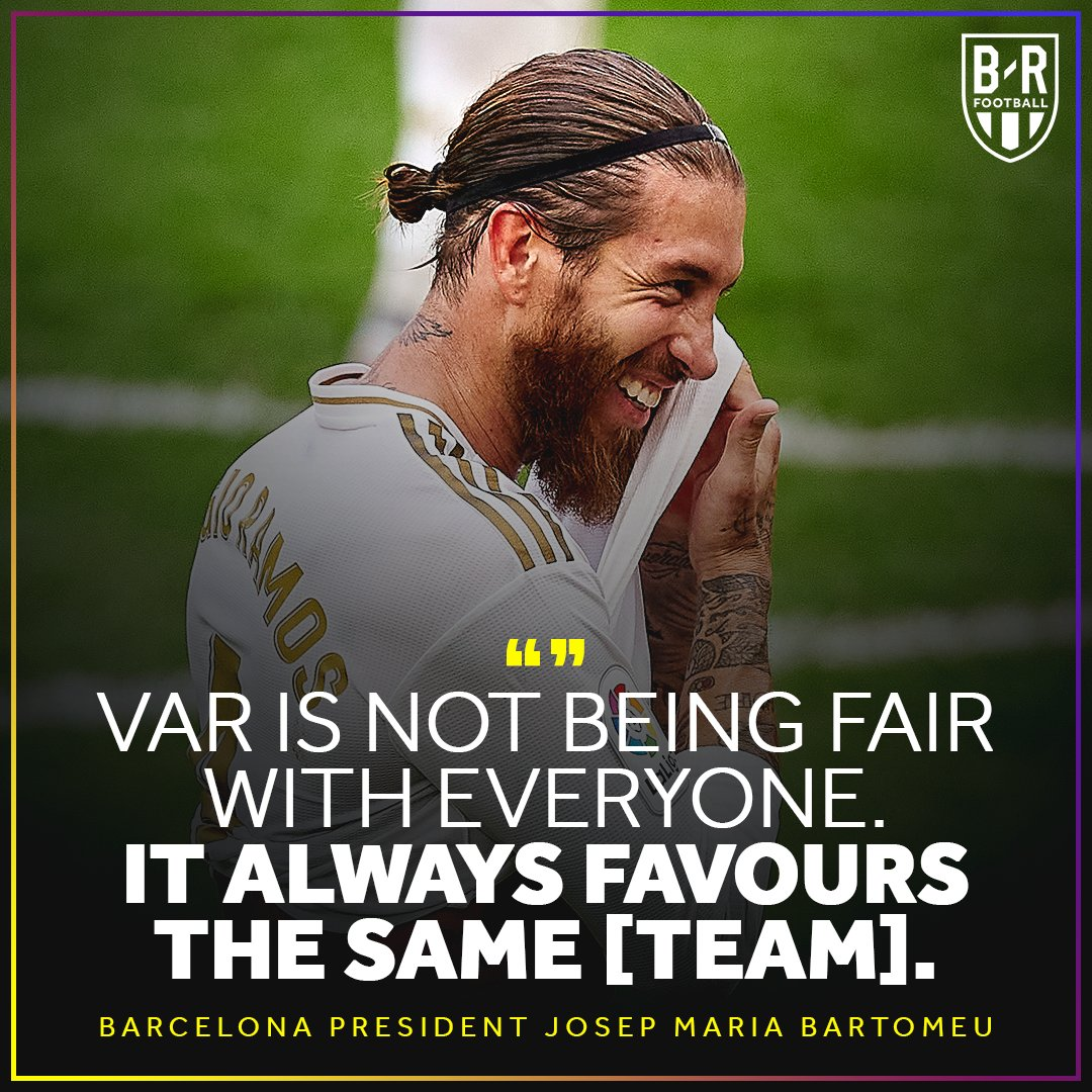 Barca's president says VAR isn't fair in La Liga https://t.co/jyeWCp2xCR