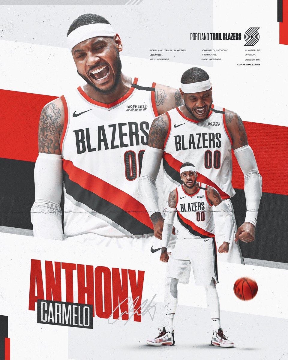 Day 109 / 365 Is a Carmelo Anthony design. @carmeloanthony @trailblazers  - - - #smsports #sportsgraphics #nba #NBATwitter #NBA2K21 #ripcity #portland #trailblazers https://t.co/UuHeuqQqOb