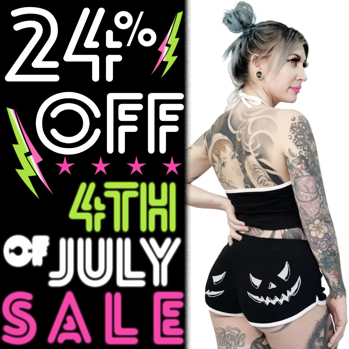 4% OFF SITE-WIDE ★ 4TH OF JULY SALE ★ ★ 24% OFF SITE-WIDE ★ NO CODE NEEDED ★ ENDS MONDAY 11 AM EST ★ SOME EXCLUSIONS APPLY ★ ★ http://TOOFASTONLINE.COM ★ #gothgoth #gothaf #altfashion #gothfashion #gothclothing #alternativeclothing #alternativefashion pic.twitter.com/XbmB5TyxLo