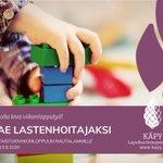 Image for the Tweet beginning: Viikonlopputyötä tarjolla! Tule lastenhoitajaksi vertaistukiviikonloppuun