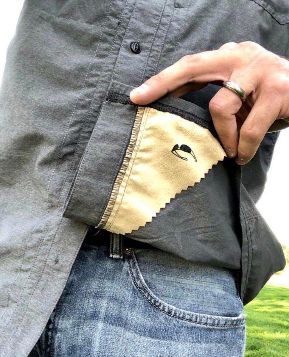 RT @cleporati: Creatividad práctica... Poner un pequeño trozo de tejido limpia anteojos en el forro de la camisa 😉 https://t.co/EWOOmjkCMR