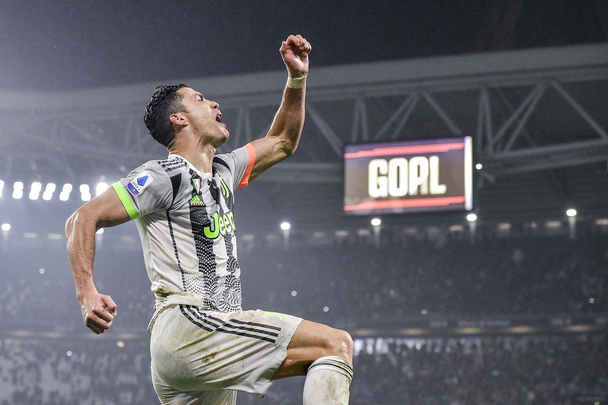 Cristiano Ronaldo participou diretamente de gols em todas as partidas da Juventus na Serie A em 2020. Além disso, o português tem a maior média de gols entre as 5 maiores ligas da Europa no ano.