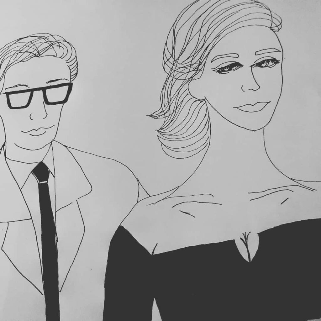 """シネマティック・ライフシリーズ(6)映画「イヴ・サンローラン」主人公の""""若さを楽しむ余裕がなかった…""""という台詞が胸に刺さる。主人公のような天才でも何者でもないが、実は、私もそうなのだ。 #映画イラスト #元デザイナー志望 #映画コンシェルジュ #illustration #illustagram pic.twitter.com/WXst42tHbI"""