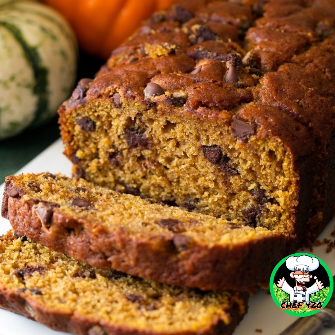 CHEF 420s Pumpkin chocolate chip bread- one of my favorites, pumpkin and chocolate seems like a strange combo to me but they are great together    https://t.co/X3J1dJuUgp     #Chef420 #Edibles #CookingWithCannabis #CannabisRecipes #InfusedRecipes  #Happy420 #420Eve #420day https://t.co/HpVcK0lChv
