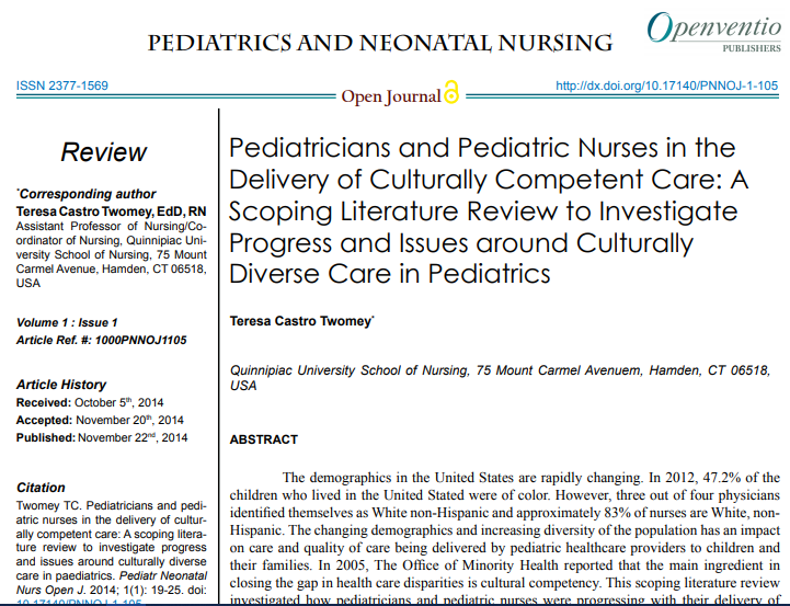 test Twitter Media - Pediatricians and Pediatric Nurses in the Delivery of Culturally Competent Care: A Scoping Literature Review to Investigate Progress and Issues around Culturally Diverse Care in Pediatrics Article Link: https://t.co/XfURSnbrzu #Culturalcompetence #Diversity #Pediatrician https://t.co/GPbhKHs3Zc