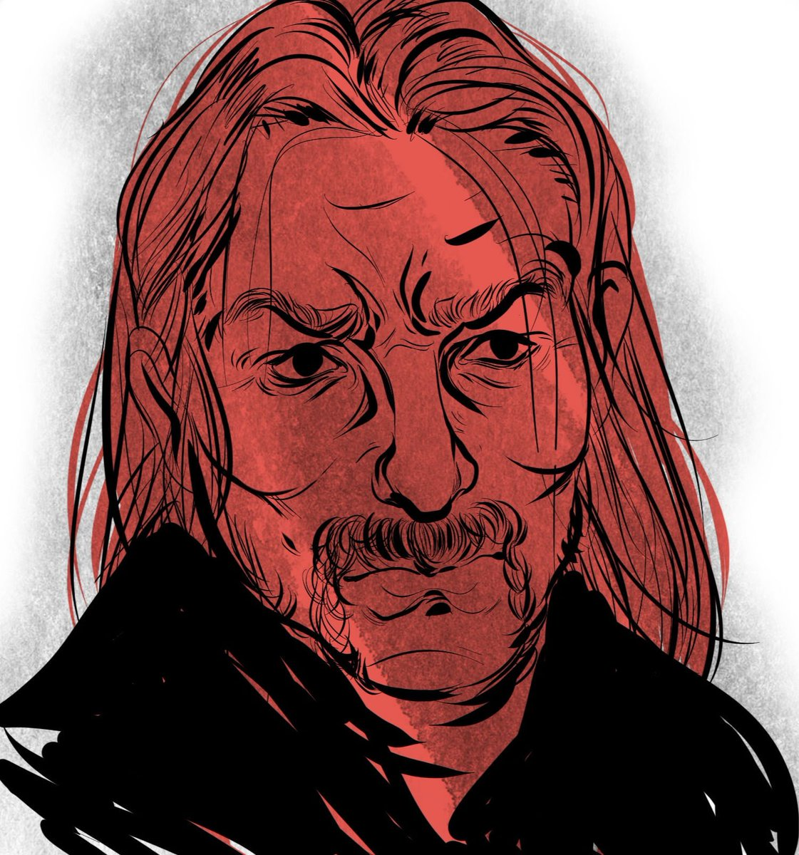 Quick #rdr2 warmup of Micah, who I personally find super creepy but I wanted to draw his mustache so. Here we are. #rdr2fanart #isantheondrawspic.twitter.com/wuitHCwa0g