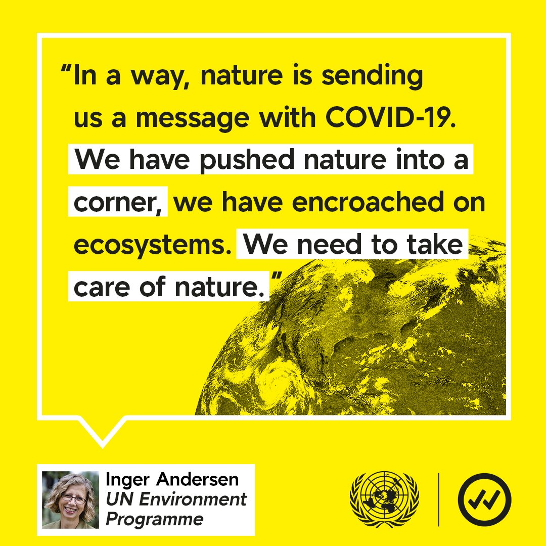 In a way, nature is sending us a message with #COVID19.  We need to take care of nature. - @andersen_inger  #ForNature https://t.co/5fUcmGxaJg