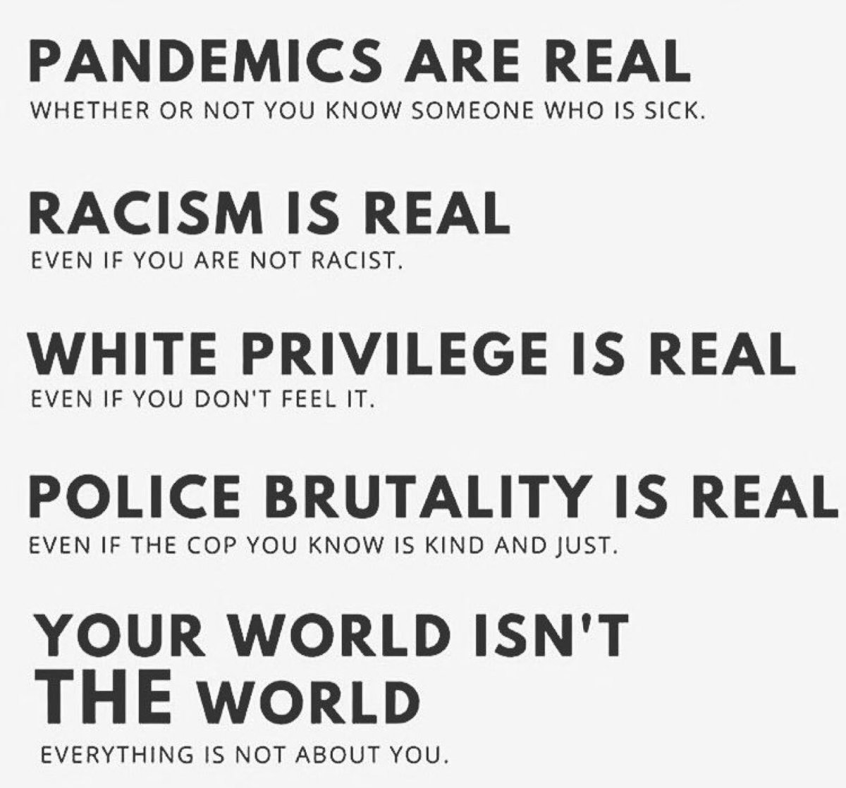 Your world isn't THE world. #racism #PoliceReform https://t.co/jeH3b5dAfb