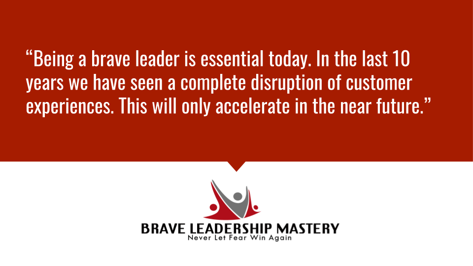 """""""Being a brave leader is essential today. In the last 10 years we have seen a complete disruption of customer experiences. This will only accelerate in the near..."""" http://www.TonyBodoh.com #business #entrepreneurpic.twitter.com/0MCwDBhjZl"""