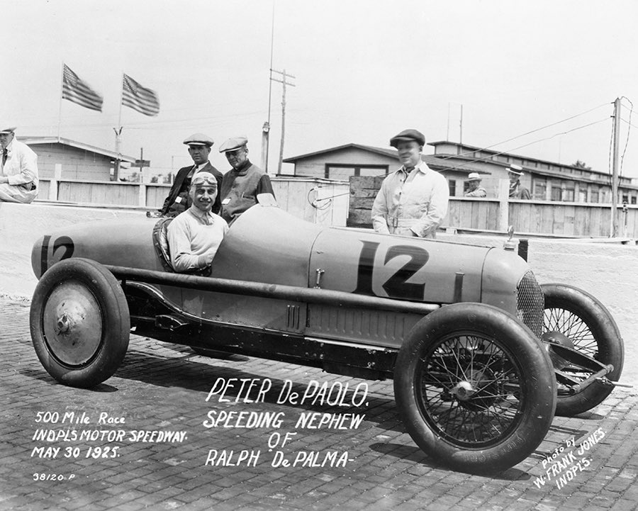 Peter DePaolo won the 1925 #Indy500. He was the 1st driver to complete the 500 miles in under 5 hours, and have an average over 100 mph. #INDYCAR #racing #Motorsport https://t.co/ke0d4J9ts3