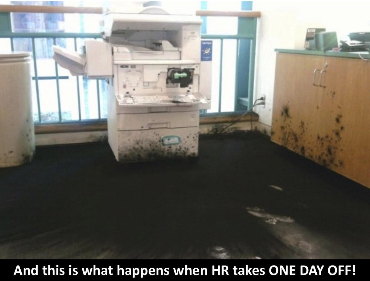 oops 🤭  #HRtribe #HRcommunity #HRpros #HRmanager #humanresources #HRmanagement #HRprofessional #HRmeme #HRhumor #bossbuilders #printerproblems https://t.co/Ejh5Lyy8q8